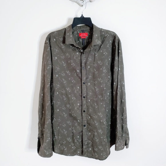 05e25468434d Zara Shirts | Men Slim Fit Olive Green Button Down Shirt Xl | Poshmark